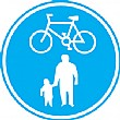 Cyclists And Pedestrians Sign