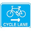 Cycle Lane Right Arrow Sign