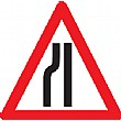 Road Narrowing Left Or Right Sign