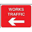 Works Traffic Left Arrow Sign