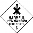 Harmful Stow Away From Food Stuffs Hazchem And Transport Labels
