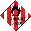 Flammable Solid Hazchem And Transport Labels