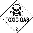Toxic Gas Hazchem And Transport Labels