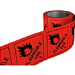 Flammable Gas Hazchem Labels On A Roll