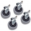 Numatic Set Of 4 75mm Grey Tyred Castors 628427