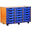 Coloured Edge 18 Tray Shallow Storage Unit