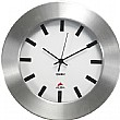 Brushed Aluminium Round Wall Clock