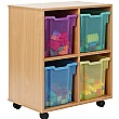 Storage Allsorts 4 Jumbo Jelly Tray Unit