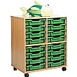 Storage Allsorts 16 Shallow Tray Unit