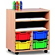 Art Storage 4 Tray Combination Unit