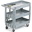 3 Tray Plastic Service Trolley
