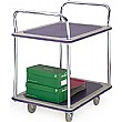 2 Shelf Blue Trolley