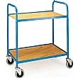 2 Shelf Plywood Tray Trolley