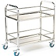 2 Shelf Stainless Steel Trolley