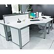 Presence Ergonomic Desks Silver & White