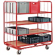 Red Container Shelf Trolley