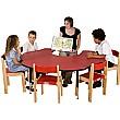 Adjustable Height Flower Top Teachers Table