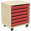 6 Tray Mobile A3 Art & Paper Storage Unit