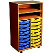 16 Tray Double Bay Mobile Storage Unit