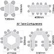 Solar Trapezoidal Tilt Top Tables