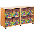 Crystal Clear 8 Quad Tray Storage Unit