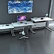 Accolade Height Adjustable Cantilever Rectangular Desk