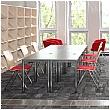 BN Easy Space Rectangular Desks - Round Legs