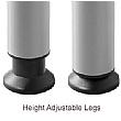 BN Easy Space Height Adjustable Compact Ergonomic Desks - Round Legs