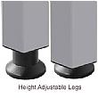 BN Easy Space Height Adjustable Compact Ergonomic Desks - Square Legs