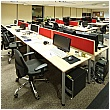 BN Easy Space Height Adjustable Rectangular Desks - Round Legs