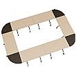 BN Flib Modular Rectangular Folding Meeting Tables