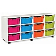 12 Deep Tray White Range Vertical Storage Unit