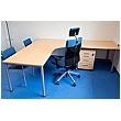 BN Easy Space Ergonomic Desks - Round Legs