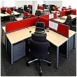 BN Easy Space Height Adjustable Ergonomic Desks - Round Leg