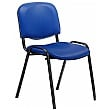 Swift Vinyl Conference Chair with Black Frame (Pack of 4 Chairs)
