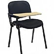 Swift Vinyl Conference Chair with Black Frame with Wooden Writing Tablet (Pack of 4 Chairs)