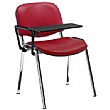 Swift Vinyl Conference Chair with Chrome Frame with Plastic Writing Tablet (Pack of 4 Chairs)