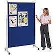 Double Sided Mobile Pinboard Display Screen