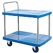 Proplaz Blue 2 Shelf Trolley