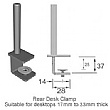 Rear of Desk Clamp