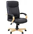 Farnham Black Leather Office Chair
