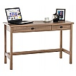 Oak Console Laptop Computer Desk
