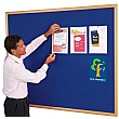 Eco-Friendly Light Oak Framed Noticeboards