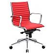 Abbey Medium Back Designer Leather Office Chair