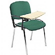 Swift Chrome Frame Conference Chairs With Wooden Writing Tablet (4 Pack)