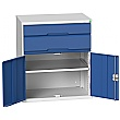 Bott Verso Drawer Cabinets - 800mm Wide x 900mm High - 2 Drawers With Cupboard