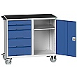 Bott Verso Mobile Maintenance Trolley Cupboard With 5 Drawers