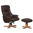 Illinois Leather Recliner Brown