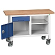 Bott Verso Mobile Storage Benches - 1250mm With Cupboard & Drawer