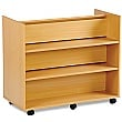 Library Unit With 3 Angled & 3 Horizontal Shelves